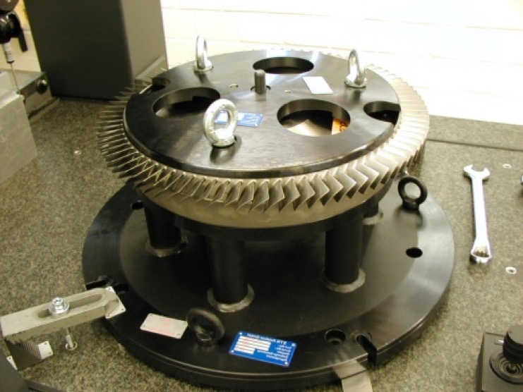 Production fixture, HPC blisk rotor